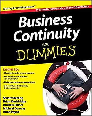 **NEW** - Business Continuity For Dummies (Paperback) 1118326830