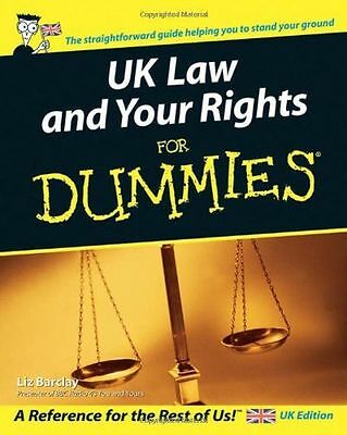 **NEW** - UK Law and Your Rights For Dummies (Paperback) 0470027967