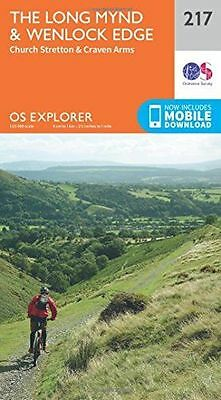 **NEW** - OS Explorer Map (217) Long Mynd and Wenlock Edge (Map) 0319244105