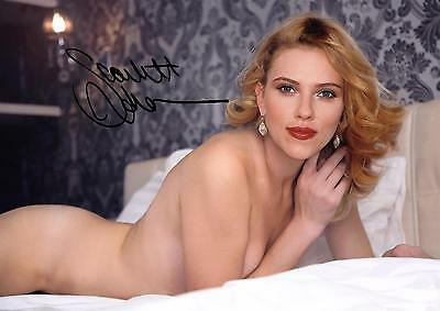 F5 Scarlet Johansson rear naked #738 signed 12x8inch approx A4 reprint