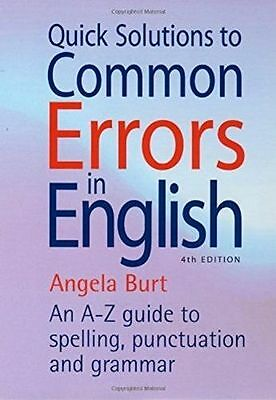 Quick Solutions to Common Errors in English: 4th edition (How (PB) 1845283619