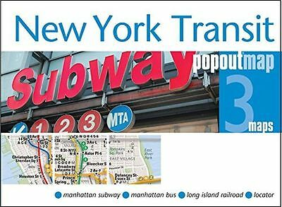 New York Transit Popout Map - handy pocket size pop-up map of (Map) 1845879589