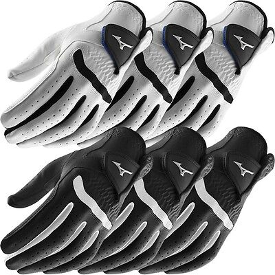 **Pack of 3** Mizuno 2016 All Weather Comp Mens Golf Gloves - Left Hand