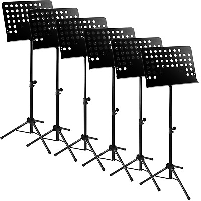 Tiger Pack of 6 Orchestral Music Stands - New Improved Design