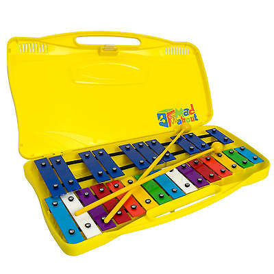 Mad About 25 Note Glockenspiel with Robust Case & 2 Beaters