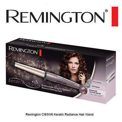 NEW Remington CI63W6 Keratin Radiance Hair Wand