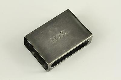 VINTAGE Sterling Silver Jewelry GORHAM 5130 Matchbox Cover McE Engraved Monogram