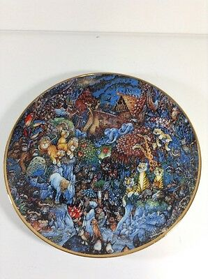 """Bill Bell Limited Edition Fine Porcelain Plate with number, """"The Rain Begins"""" 8"""""""