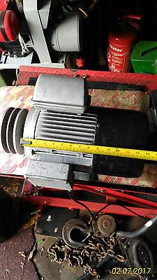 Brooks motor 3.7kw 5.2hp 2930 RPM wired for 230v