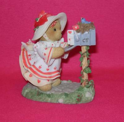 Cherished Teddies HEIDI Sealed With A Kiss  Girl at Mailbox