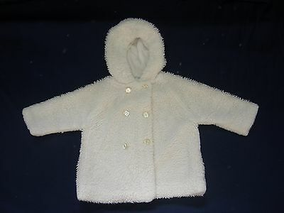 Vintage - Harringtons - Fluffy White - Baby Coat - Age 18 Months