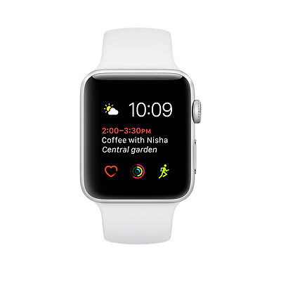Apple Watch Series 1 38mm Silver Aluminum Case White Sport Band - (MNNG2LL/A)