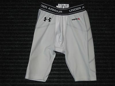 Under Armour MPZ1 Cup Pocket Compression Padded Shorts Youth Medium YMD White