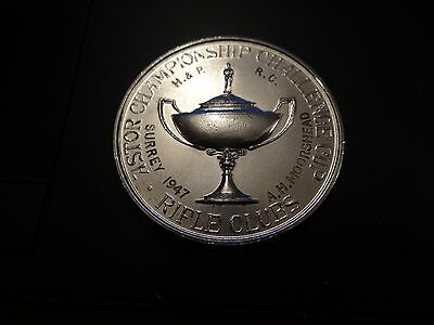 Astor Championship Challenge Cup Rifle Clubs Silver White Metal Medal