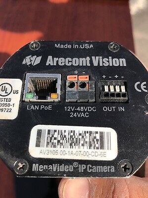 Arecont Vision ARC AV3105 MegaVideo IP Camera ONLY, with lens  fully funcional