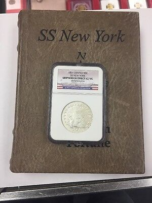 1807 Draped Bust Half Dollar From The SS New York Shipwreck With Box.