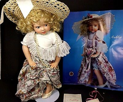 "Hamilton Collection Ashley by Helen Kish 17 "" Porcelain Doll Dressing Up 1991"