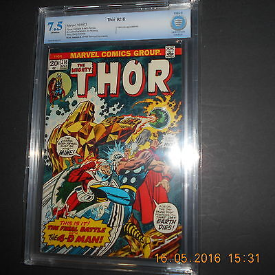 Thor 216 Cbcs 7.5  Mark Jewelers-United Service Club Variant  1973