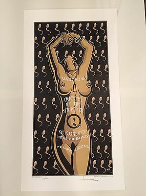 QUEENS OF THE STONE AGE 2003 Justin Hampton POSTER Tempe signed/numbered QOTSA