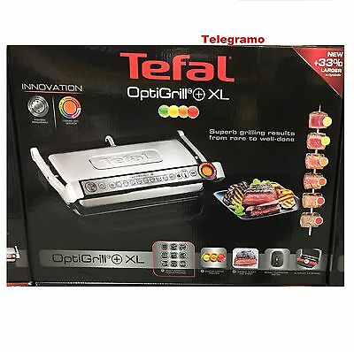 TEFAL OPTIGRILL XL  AUTOMATIC GRIDDLE GRILL KITCHEN Contact grill 2.000 Watt 33%