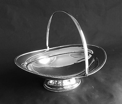 Lovely Vintage Classical Silver-Plated Fruit Basket, Downton Style Centrepiece!