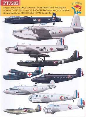 PT Decals 1/72 FRENCH AERONAVAL FRENCH NAVY AIRCRAFT