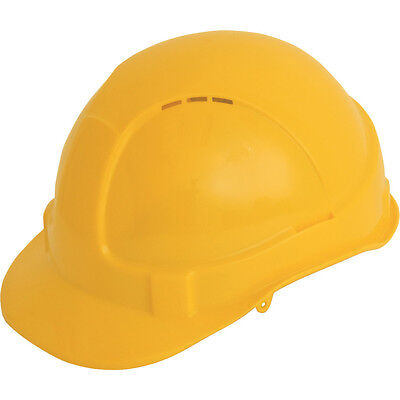 Tuffsafe Vented Comfort Fit Safety Helmet Saturn Yellow