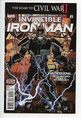 Invincible Iron Man 9 1st Print Full Appearance of Riri Williams New Iron Man NM
