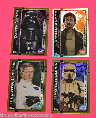 Topps STAR WARS Rogue One UK Trading Card = (Defect / Damaged) LIMITED EDTION