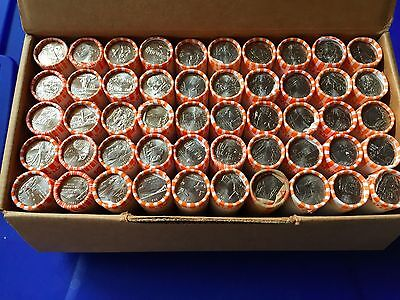 Complete 50 Rolls Set 1999-2008 Statehood Uncirculated Quarters in Bank Rolls