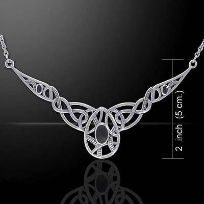 Infinite Rebirth Sterling Silver Necklace w/ gem - Expression of Life & Renewal