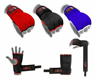 Hand Wrap Black, Blue, Red Padded glove Boxing MMA UFC Adult /kids  Quick wraps