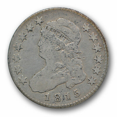 1815 25C Capped Bust Quarter Fine F Better Date US Coin R1622