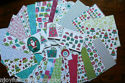 Jolly Pack B - 23 - 6x6 Papers & 6 Varied Extra Paper Embellishment Dbl Sided