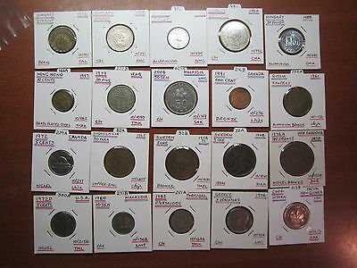 Bulk lot World Coins  20 coins in holders wc101