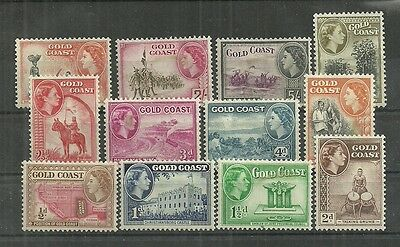 Gold Coast Tamps #148-159 Set Of 12 (Hinged) From 1952-54.