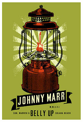 Scrojo Johnny Marr Belly Up Tavern Solana Beach San Diego 2016 Poster Marr_1603