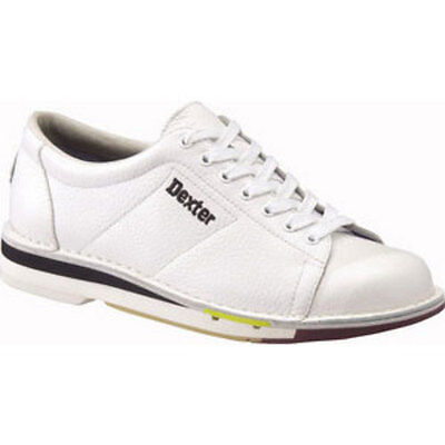 Dexter Mens SST 1 White Left Handed Real Leather Bowling Shoes