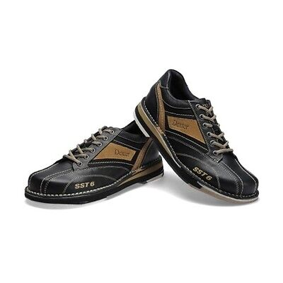 Dexter Mens SST 6LZ Black/Stone Right Handed Interchangeable Bowling Shoes NEW