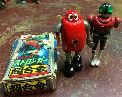 80's Popy  chogokin diecast figure Lot Of Two With Box As Is