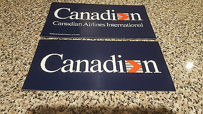 Canadian Airlines - 2 Piece Decal Set. Reversible - Window Or Bumper.