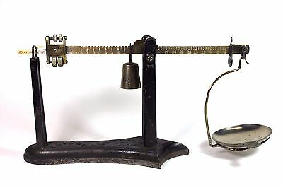 Antique 1878 Fairbanks Balance Beam Cast Iron & Brass Scale Accurate & Complete