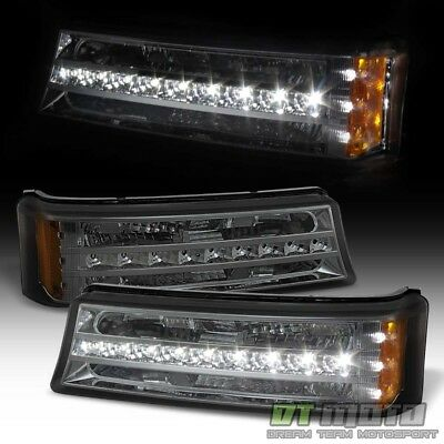 Smoke 2003-2006 Chevy Silverado Avalanche LED DRL Bumper Parking Signal Lights
