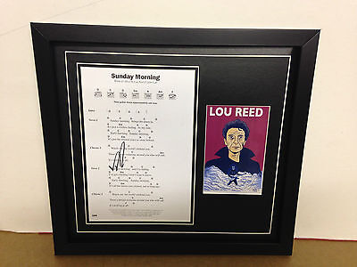 Lou Reed Hand Signed/Autographed Songsheet with a Postcard and COA