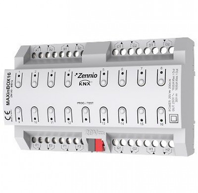 Zennio MAXinBOX16 KNX Multifunction Actuator 16 Outputs 16A C-Load