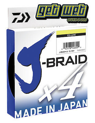 Daiwa J-Braid 4X Ply 150m-300M