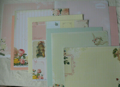 BEAUTIFUL YOU Mixed Pages 4 x 2 Dbl Sided Paper 1 Side = JournCard 12x12 Manor H