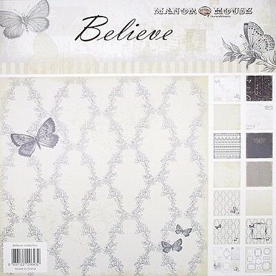 BELIEVE Collection Kit 6 x2 Dbl Sided Paper + Frames & Cards Single Sheets-12x12