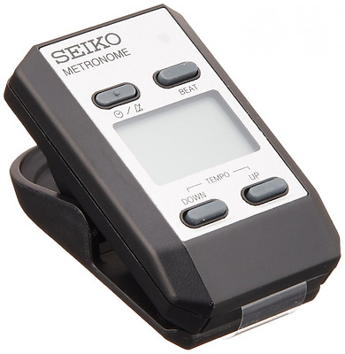Seiko DM51SE Clip-on Digital Metronome with Clock Function