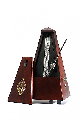 Wittner Traditional Maelzel Pyramid Metronome Wooden Case with BellMahogany Mat